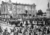 Парад в центре Кишинёва
