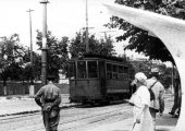 Трамвай в центре города