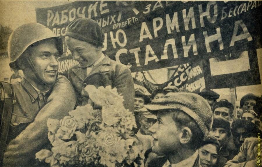 Встреча советских солдат