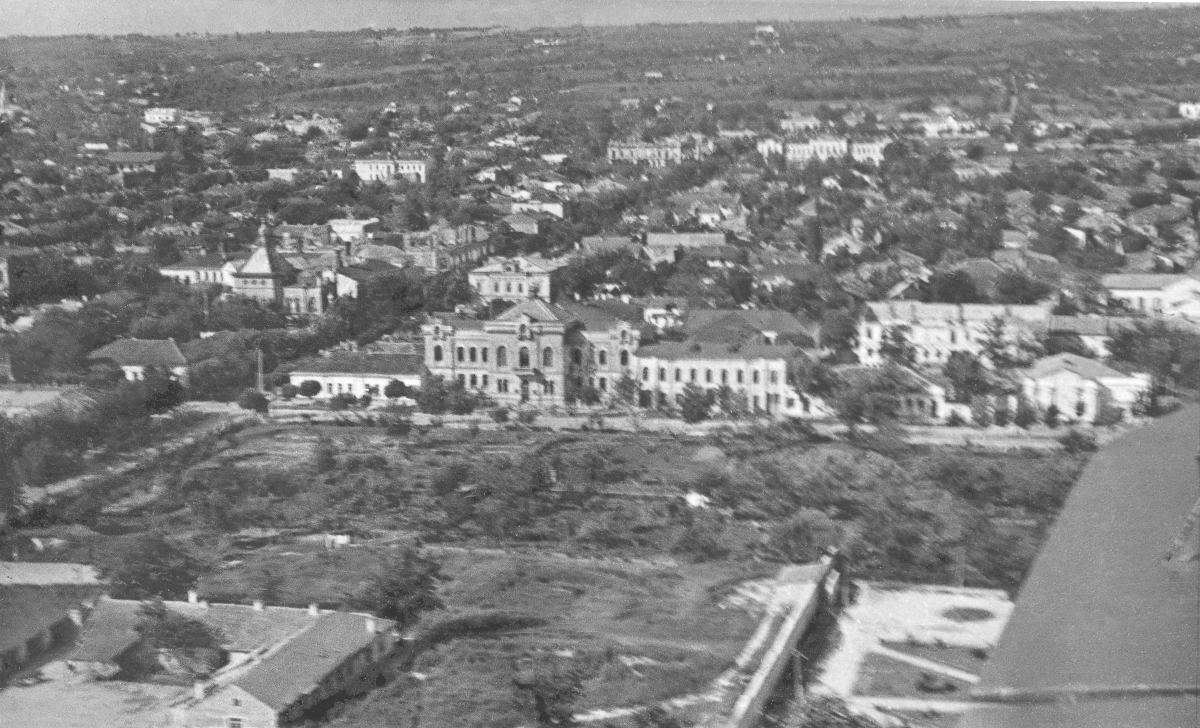 Сады Митрополии с самолёта. Фотография 1947 года.