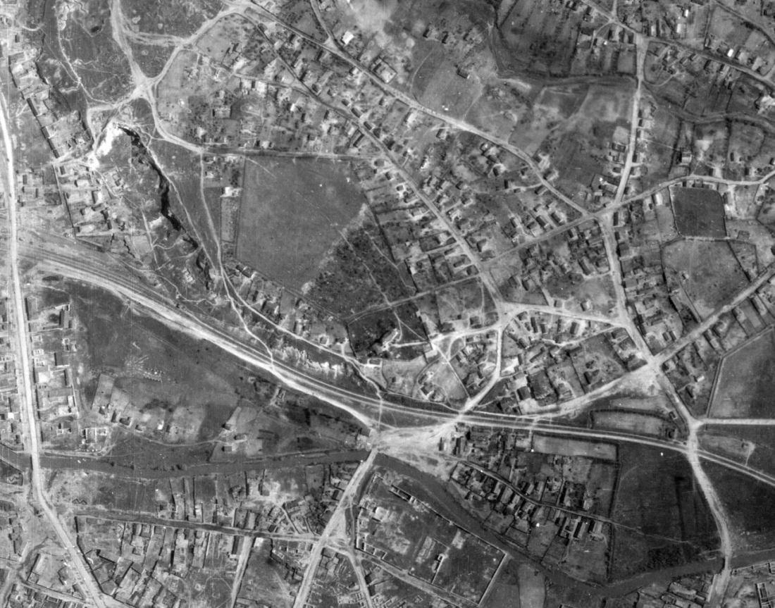 Фрагмент немецкой аэрофотосъёмки Кишинёва. Май 1944 года. (oldstory.info)
