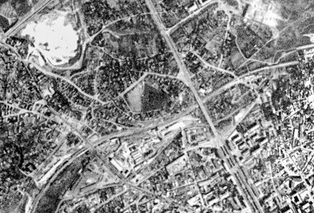 Фрагмент спутниковой съёмки США. Сентябрь 1965 года. (usgs.gov)