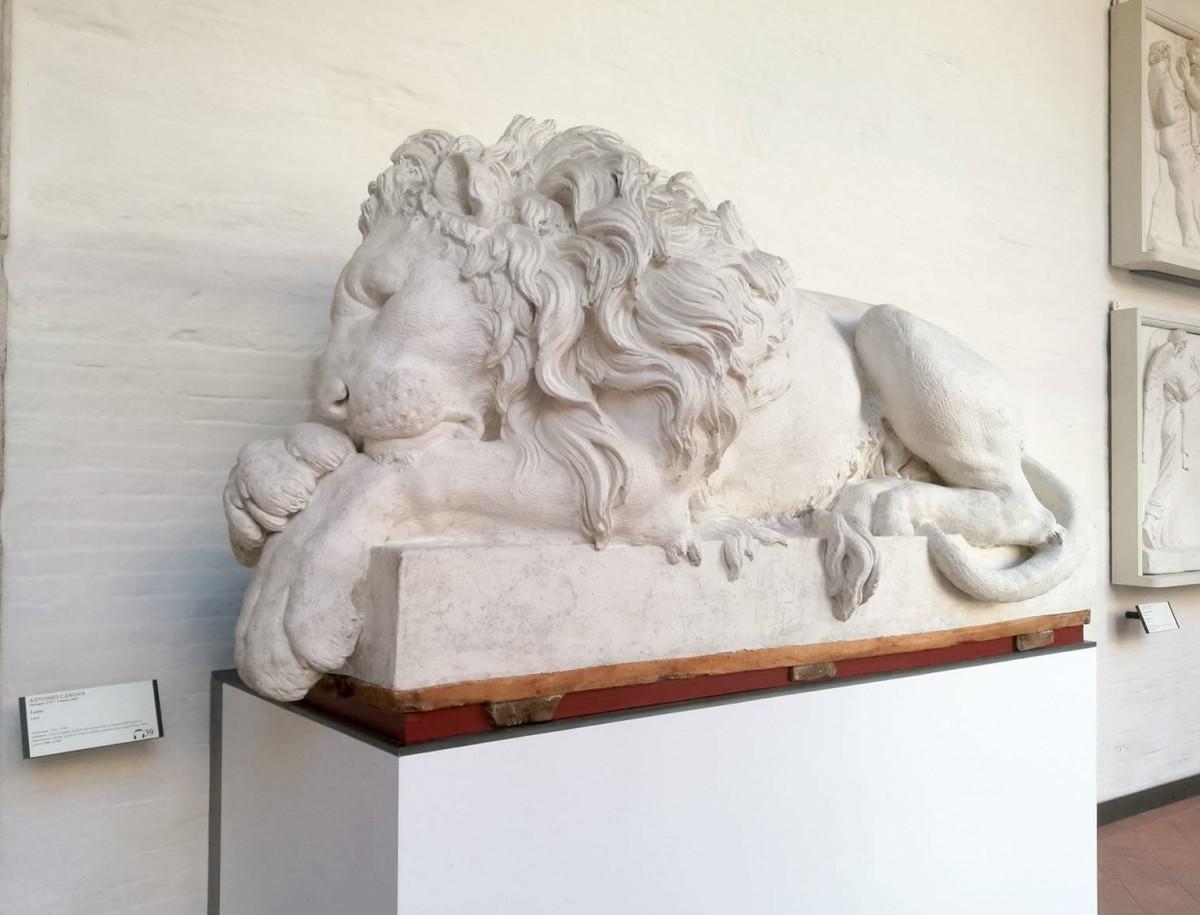 Лев в Галерее Академии (Венеция). Фотография Натальи Пэлэрие.
