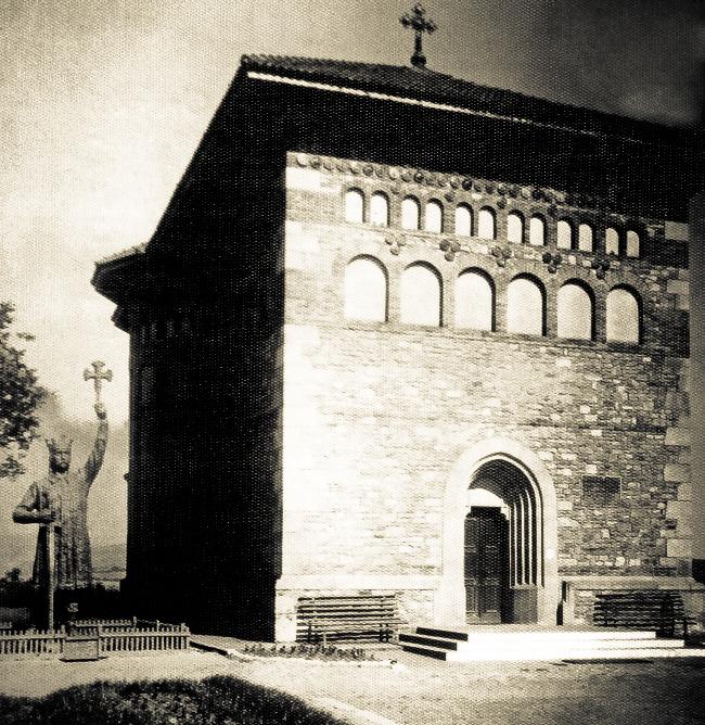 Памятник Штефану Великому в городе Васлуй. 1940 год.
