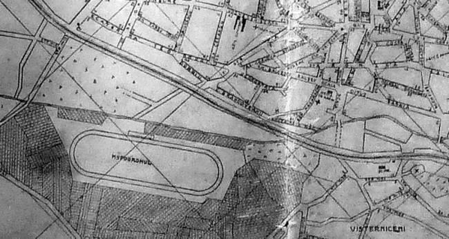 Ипподром (слева внизу) на плане Кишинёва конца 1920-х гг.
