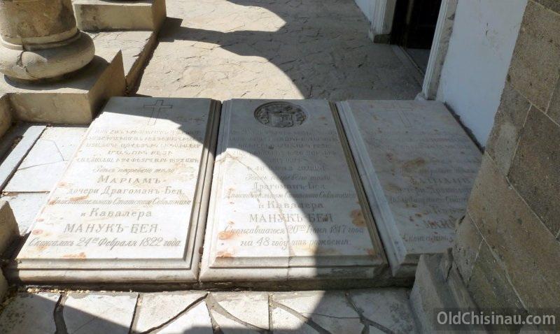Захоронения у церкви. Манук-Бей и его дочери - Мариам и Гайиане.