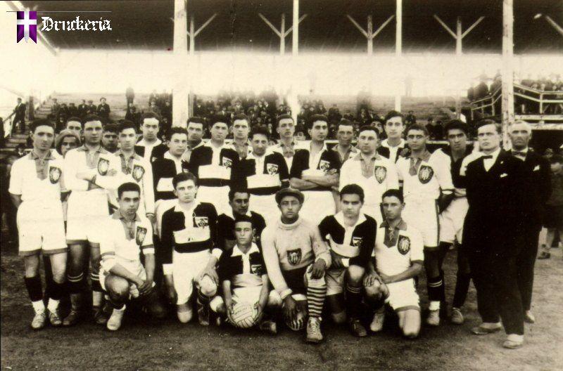 """Кишинёвский """"Спортинг"""" (в белой форме) и """"Политехника"""" из Тимишоары, Кишинёв, 1928 год."""