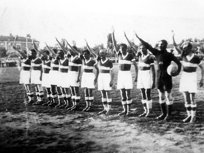 "Кишинёвский ""Спортинг"" на стадионе им. короля Фердинанда I, 1939 год."