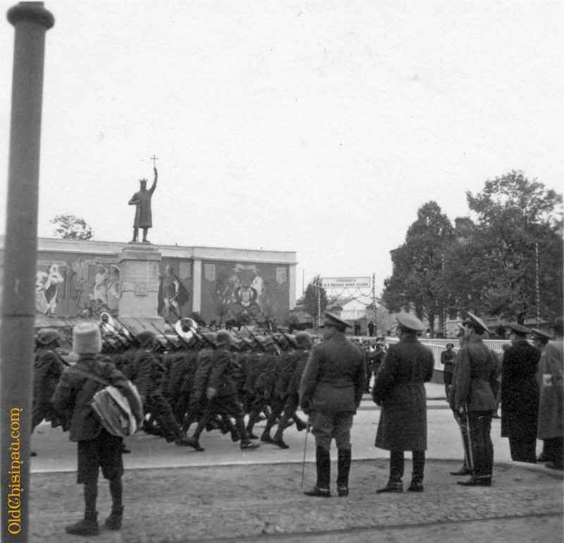 Памятник Штефану Великому. 29 октября 1942 года.