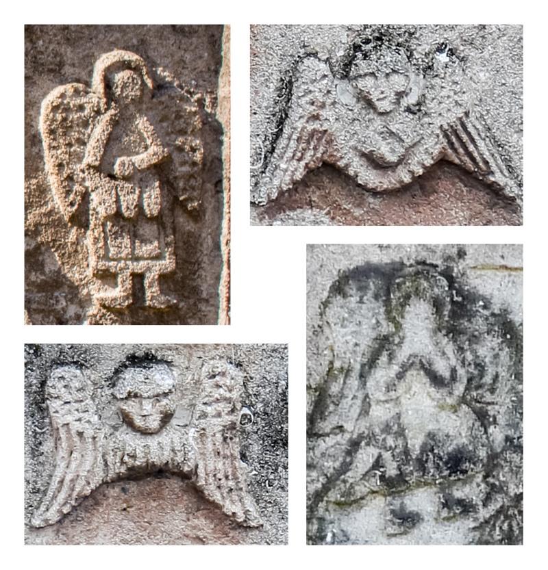 Ангелы на надгробиях.