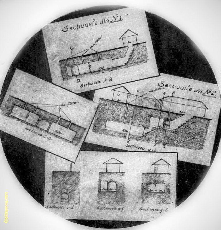 Схемы иннокентьевских подземелий у Петруни.