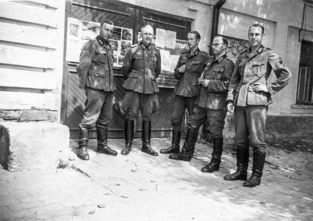Немецкие солдаты в Кишинёве.