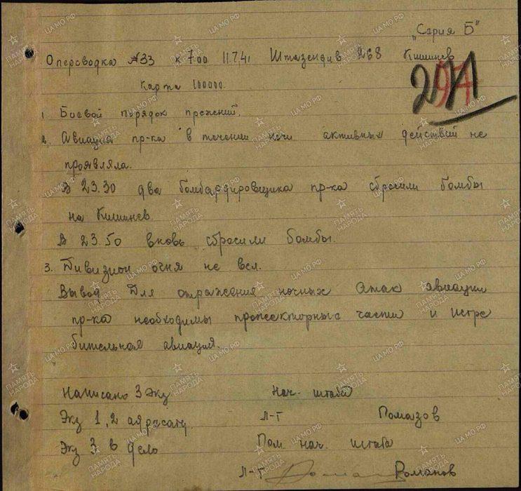 Архив ЦАМО РФ, найдено Алексеем Русановым.