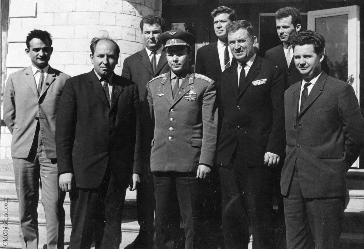 Ю. А. Гагарин в Кишинёве 1966