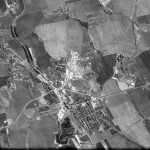 Снимок Дрокии из космоса, сделанный спутником-шпионом США 24 сентября 1965 года