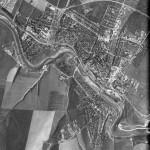 Снимок Флорешт из космоса, сделанный спутником-шпионом США 2 августа 1970 года