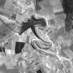 Снимок района Старого Оргеева из космоса, сделанный спутником-шпионом США 24 сентября 1965 года