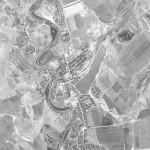 Снимок Унген из космоса, сделанный спутником-шпионом США 24 сентября 1965 года