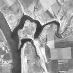Снимок района будущего заповедника Ягорлык из космоса, сделанный спутником-шпионом США 24 сентября 1965 года