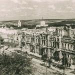 Разрушенный центр Кишинёва осенью 1944 года.